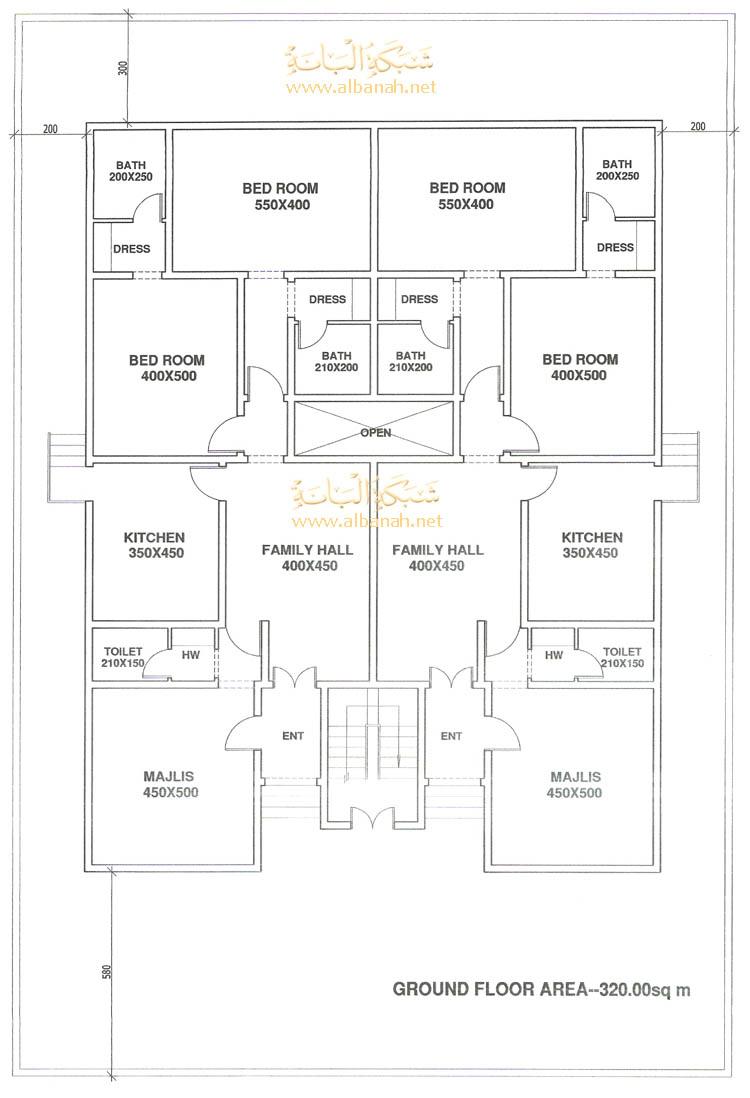 تصاميم بمساحة600مترمربع فلل مساحتها600م مخطط فلل مساحة600م مخططات هندسية